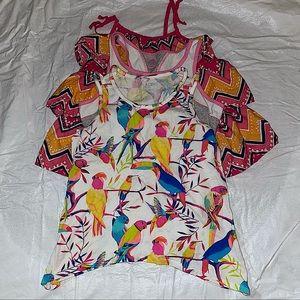 Lot of 3 Girls sleeveless Tops size 10 EUC